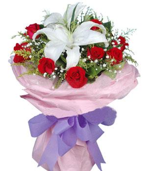 9枝�t玫瑰/天使的祝福-�花人�r花
