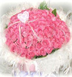 108枝粉玫瑰/拥你一辈子