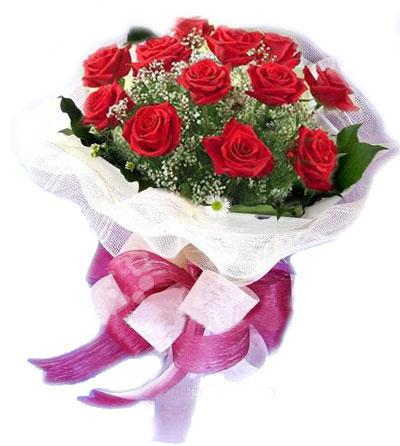 12枝�t玫瑰/�鄣钠孥E-�花人�r花