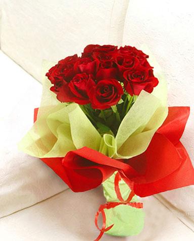 12枝红玫瑰/红尘深处-订花人鲜花