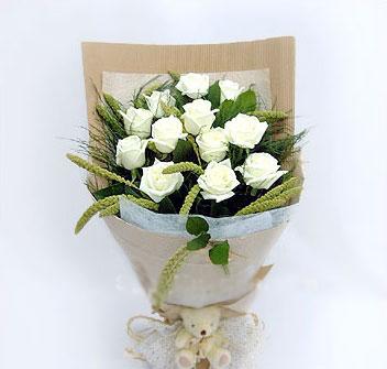 12枝白玫瑰/表白-�花人�r花