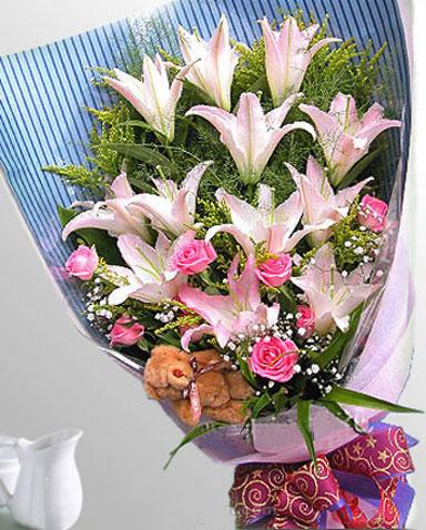 12枝百合/缘份-订花人鲜花