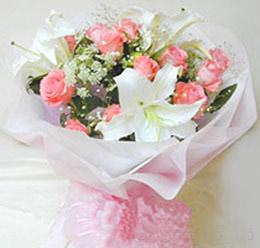 12枝粉玫瑰/美��心情-�花人�r花