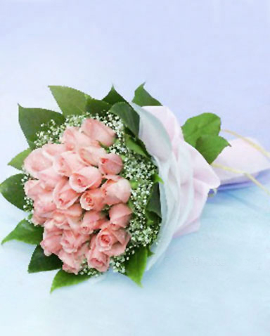26枝粉玫瑰/永恒-订花人鲜花