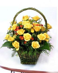32枝黄玫瑰/牵挂