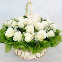 18枝白玫瑰/幸福快乐-订花人鲜花