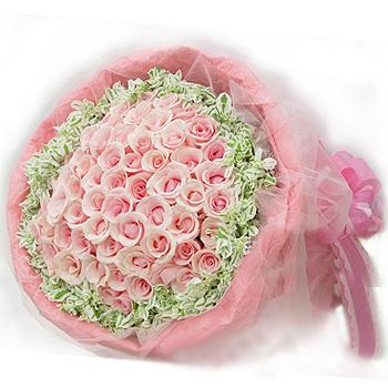 99枝粉玫瑰/只有你