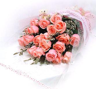 18枝粉玫瑰/一生相恋-订花人鲜花
