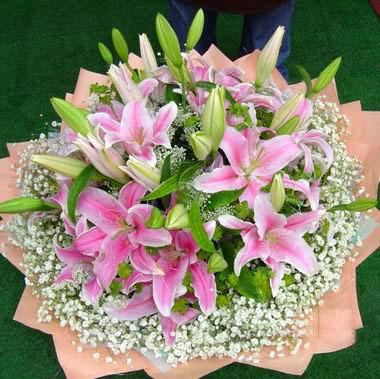 5枝香水百合/美丽人生-订花人鲜花