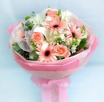 3枝粉玫瑰/粉�t色的���-�花人�r花