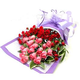 18枝粉玫瑰/假日�光-�花人�r花
