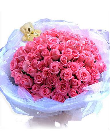 99枝粉玫瑰/爱无极限-订花人鲜花