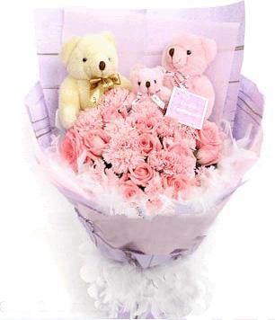 12枝粉玫瑰/朝朝暮暮-�花人�r花