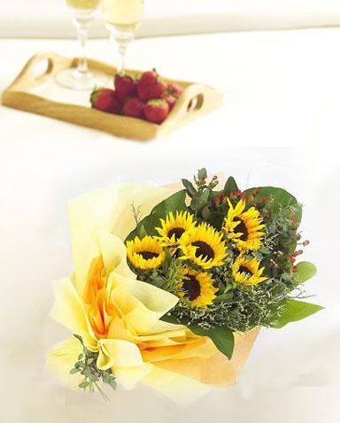 6枝向日葵/明天会更好-订花人鲜花
