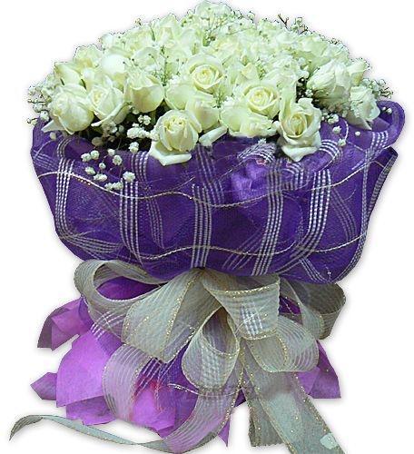 99枝白玫瑰/一往情深-订花人鲜花
