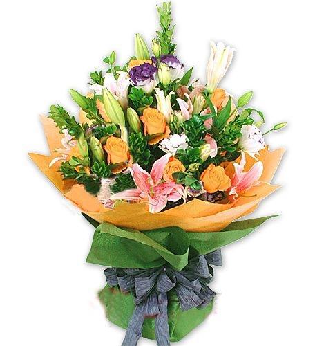 12枝粉玫瑰/最真的梦-订花人鲜花