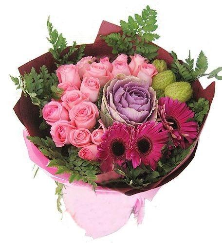 16枝粉玫瑰/简单爱-订花人鲜花