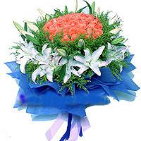 33枝粉玫瑰/真情-订花人鲜花