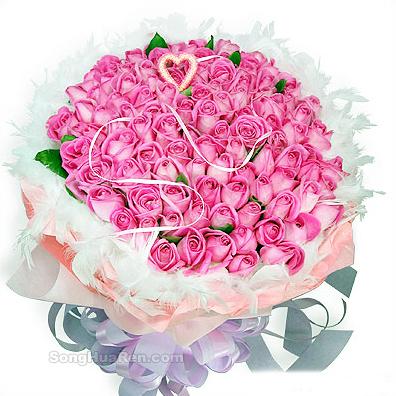 99枝桃色玫瑰/经典爱情-订花人鲜花