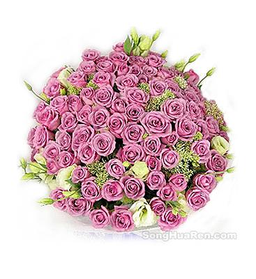 99枝紫玫瑰/紫色的��-�花人�r花