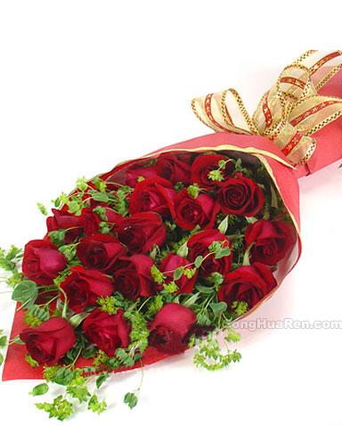 21枝红玫瑰/爱情火-订花人鲜花