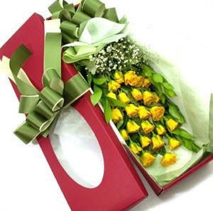 24枝黄玫瑰/爱情-订花人鲜花