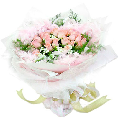 26枝粉玫瑰/美好�r光-�花人�r花