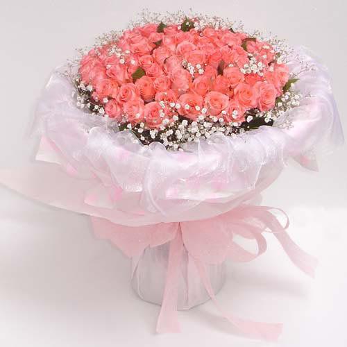 66枝粉玫瑰/�勰愕娜�