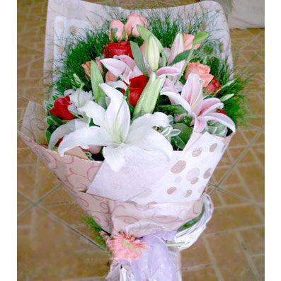 10枝粉玫瑰/快�废喟�-�花人�r花