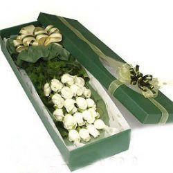 20枝白玫瑰/爱你到永远