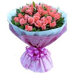 33枝粉玫瑰/倾心爱你-订花人鲜花