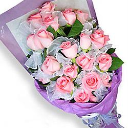 20枝粉玫瑰/粉色精�`-�花人�r花