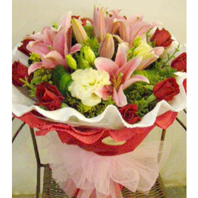 9枝红玫瑰/天涯共此时-订花人鲜花