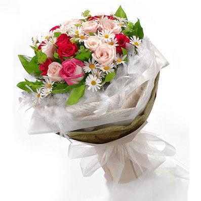 20枝粉玫瑰/约定-订花人鲜花