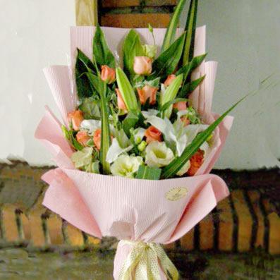 11枝粉玫瑰/完美的幸福-订花人鲜花
