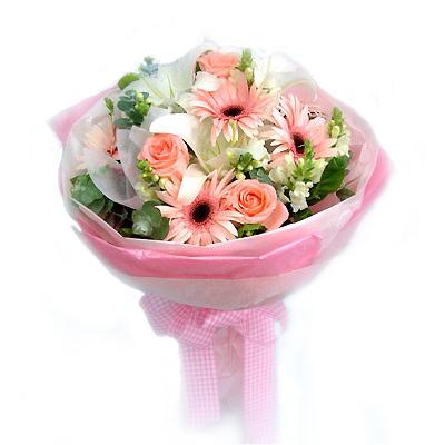 5枝粉红玫瑰/-订花人鲜花