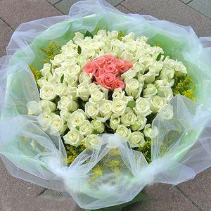 80枝白玫瑰/爱的罗曼蒂克-订花人鲜花