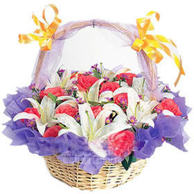 12枝粉玫瑰/祝福之花-�花人�r花