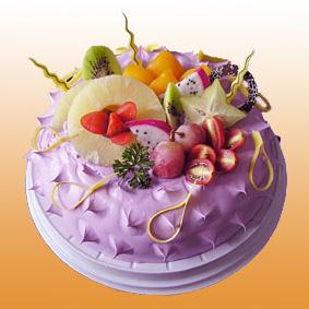 鲜奶蛋糕/白雪香果(8寸)