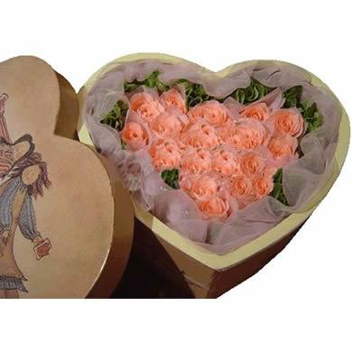 16枝粉玫瑰/轻舞飞扬-订花人鲜花