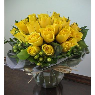 24枝黄玫瑰/默默爱你-订花人鲜花