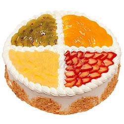生日蛋糕/什锦水果木司(8寸)-订花人鲜花