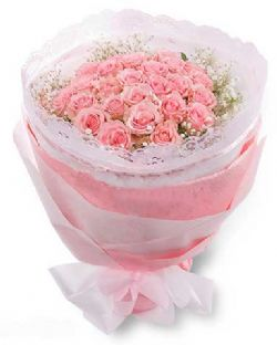 77枝粉玫瑰/偶然