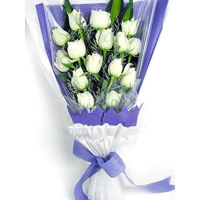 15枝白玫瑰/爱无价-订花人鲜花