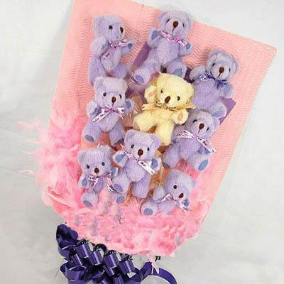 9只小熊/紫想你-订花人鲜花