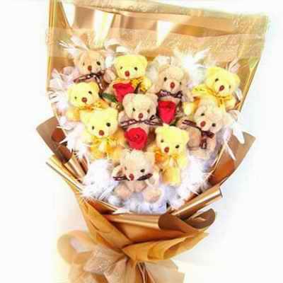 10只小熊/金色年华-订花人鲜花