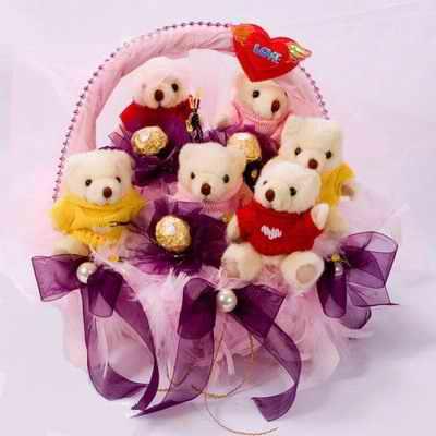 6只小熊/爱转角-订花人鲜花