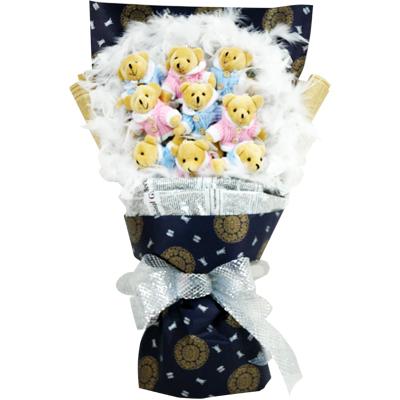 9只小熊/爱在深秋-订花人鲜花