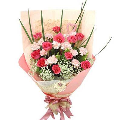 13支粉色康乃馨/幸福安康-订花人鲜花