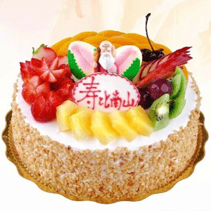 祝寿蛋糕/寿比南山(8寸)-订花人鲜花